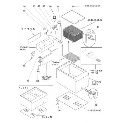 Friggitrice elettrica FR 8+8 LT